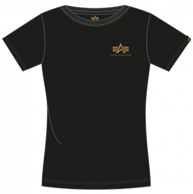 Alpha Industries Basic T Small Logo Wmn FP (black/gold)