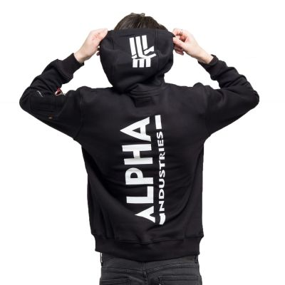 Alpha Industries Back Print Hoody black