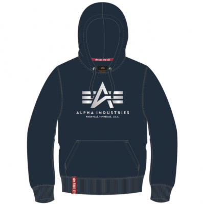 Alpha Industries Basic Hoody Reflective Print (repl.blue)