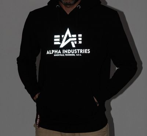Alpha Industries Basic Hoody Reflective Print