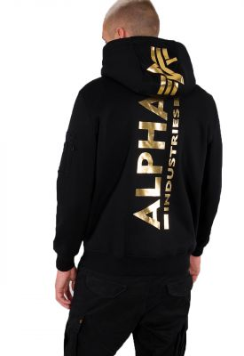 Alpha Industries Back Print Hoody (black/gold)
