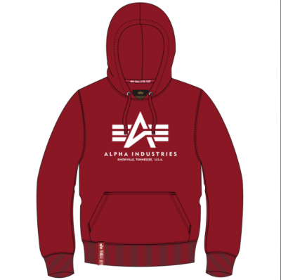 Alpha Industries Basic Hoody (RBF red)