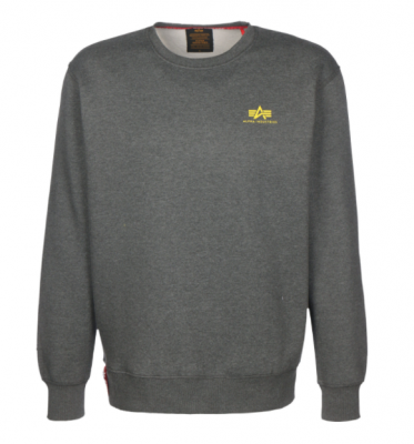 Alpha Industries Basic Sweater Small Logo (charcoal heather)
