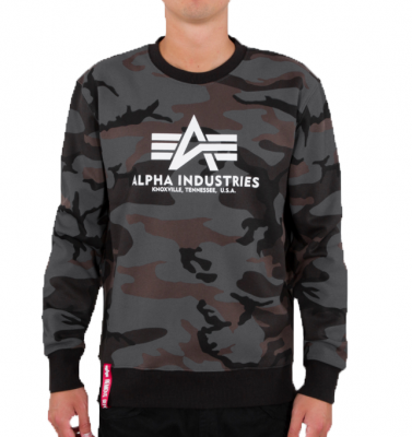 Alpha Industries Basic Sweater Camo (black)