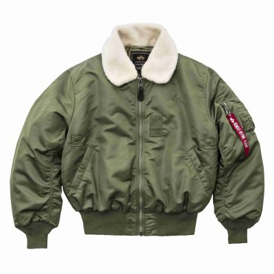 Alpha Industries bunda B-15 (sage green)
