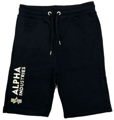 Alpha Industries Basic Short AI Foil Print (black/gold)
