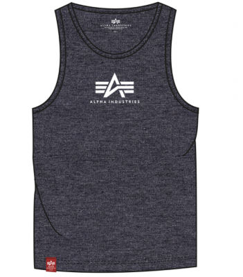 Alpha Industries Basic Tank (charcoal heather/white)