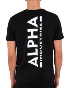 Alpha Industries pánské triko Backprint (černé) | M, L, XL