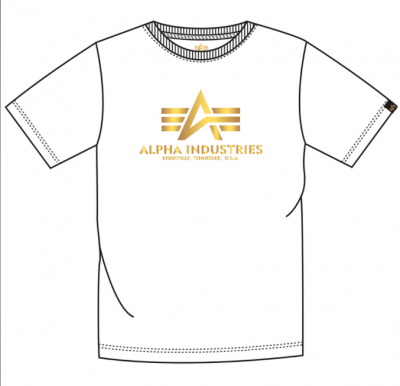 Alpha Industries Basic T FP (white/yellowgold)