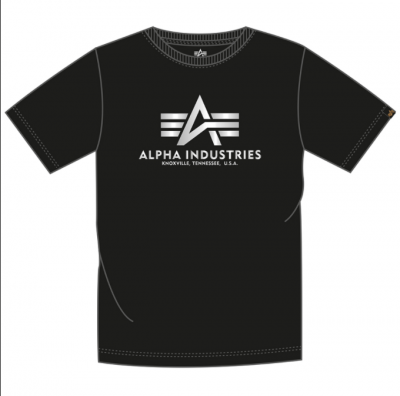 Alpha Industries Basic T FP (black/metalsilver)