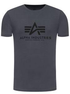Alpha Industries triko Basic tm.šedá/černá