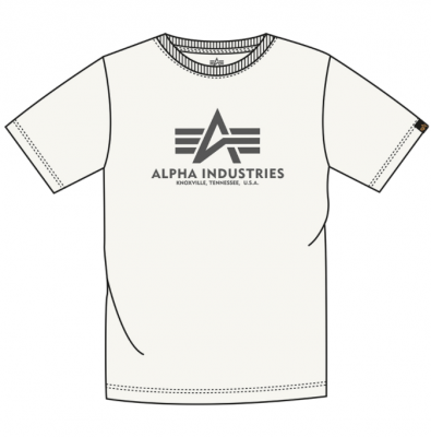 Alpha Industries Basic T (jet stream white)