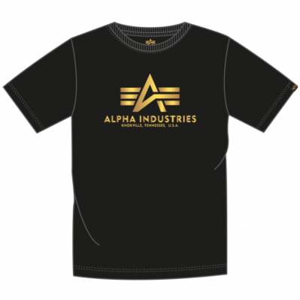 Alpha Industries Basic triko FP černá/velmizlatá