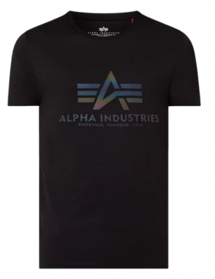 Alpha Industries Basic T Rainbow Ref. (black)