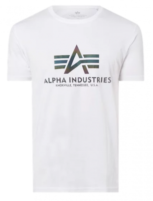Alpha Industries Basic T Rainbow Ref. (white)