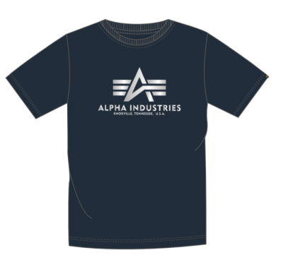 Alpha Industries Basic T Reflective Print (rep. blue)