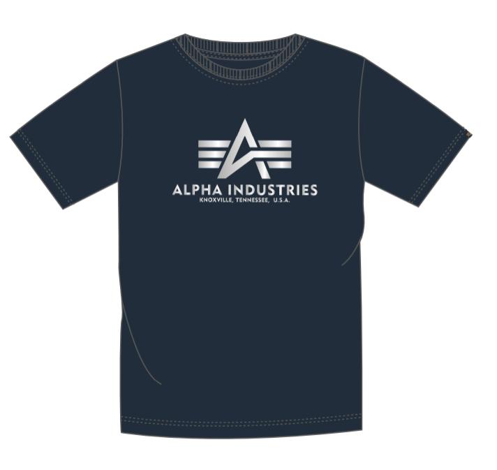 Alpha Industries Basic T Reflective Print