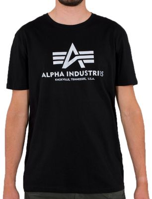 Alpha Industries Basic T Reflective Print (black)