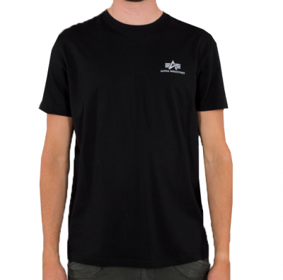 Alpha Industries Basic T Small Logo Reflective (black)