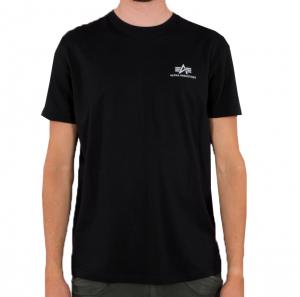 Alpha Industries Basic T Small Logo Reflective (black)