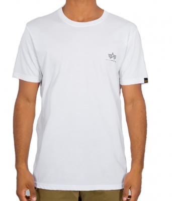 Alpha Industries Basic T Small Logo Reflective (white)