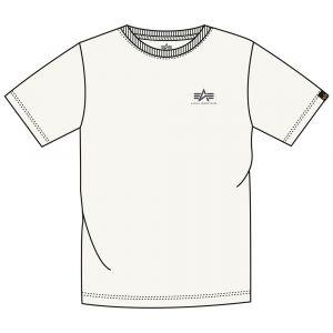 Alpha Industries Basic T Small Logo (jet stream white)