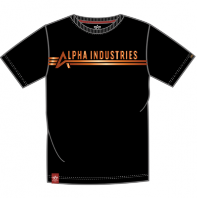 Alpha Industries T Foil Print (black/copper)