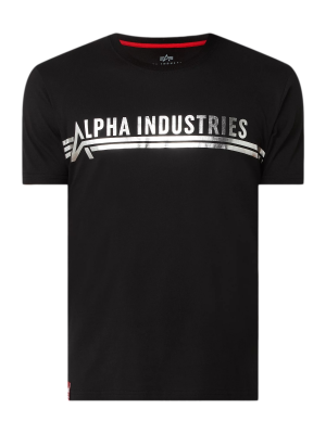 Alpha Industries T Foil Print (black/metalsilver)