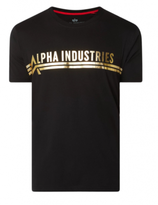Alpha Industries T Foil Print (black/yellowgold)