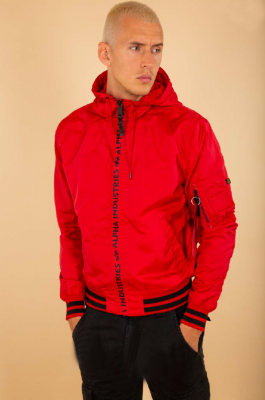 Alpha Industries  MA1 LW Hooded PZ (speed red)