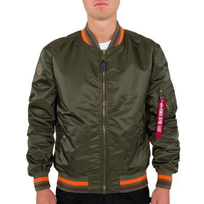 Alpha Industries pánská bunda  MA1 LW Tipped (dark olive)