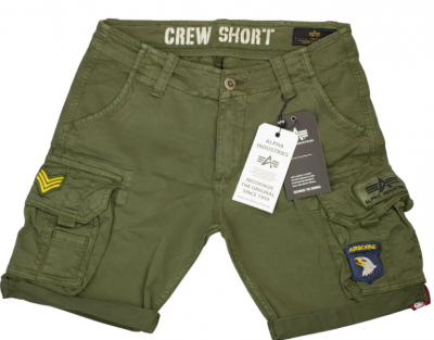 Crew Short Patch (dark olive)
