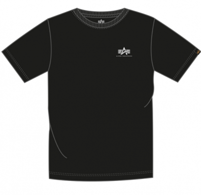 Alpha Industries Basic T Small Logo FP (black/metalsilver)