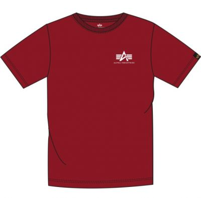 Alpha Industries Basic T Small Logo (RBF red)