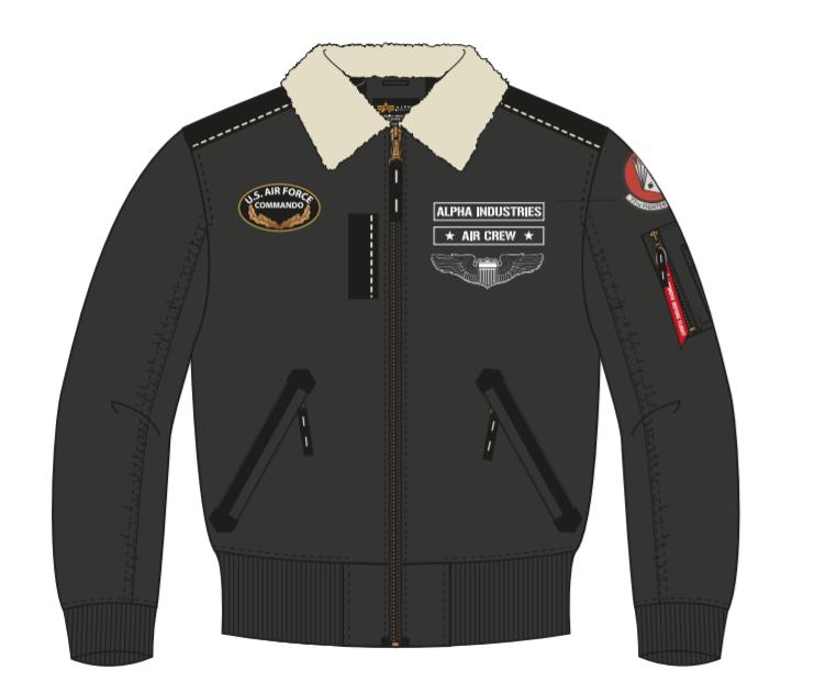 Alpha Industries zimní bunda Injector III Air Force (černá) - Etappa