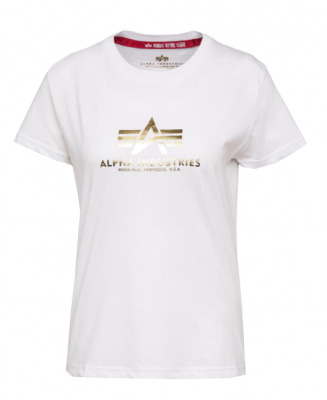 Alpha Industries New Basic T wmn Foil Print (metalgold)