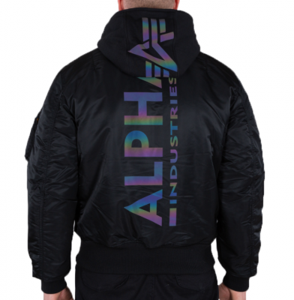 Alpha Industries MA-1 ZH Back Print (black/rainbow ref)