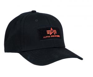 Alpha Industries černá kšiltovka VLC Patch Cap (oranžová)