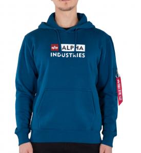 Alpha Industries Alpha Bloc-Logo Hoody (Naval blue)