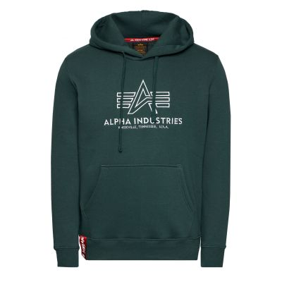 Alpha Industries Basic Hoody Embroidery (navy green)