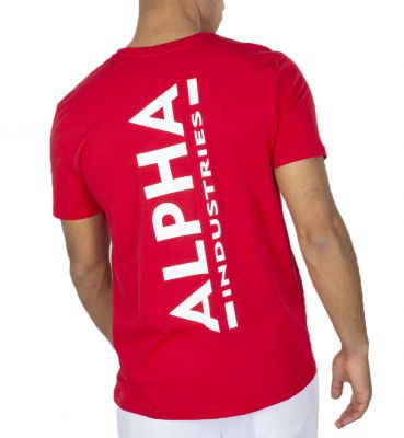 Alpha Industries Backprint T (speed red)