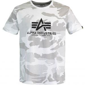 Alpha Industries triko Basic bílé maskáčové