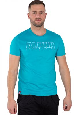 Alpha Industries Embroidery Heavy T (blue lagoon)