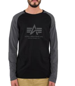 Alpha Industries Basic LS (black/greyblack)
