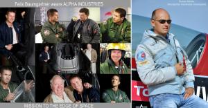 Felix Baumgartner v leteckých bundách Alpha Industries