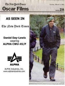 Daniel Day Lewis a bunda CWU 45