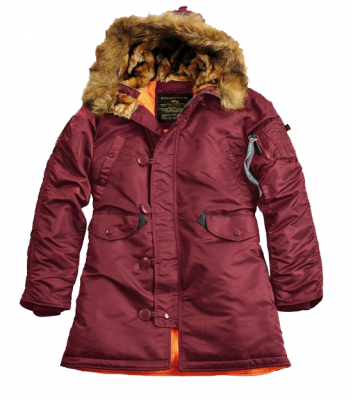 Alpha Industries N3B VF-59 Wmn Burgundy