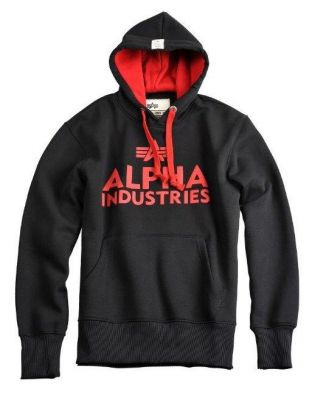 Alpha Industries Foam Print Hoody (black)