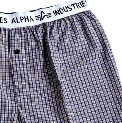 Alpha Industries trenky Bodywear Boxer Checked Brown