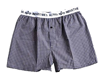 Alpha Industries Bodywear Boxer Checked hnědé
